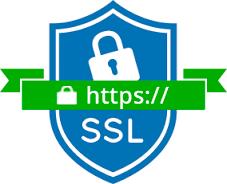 E-commerce com conexão segura criptografada SSL